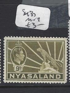 NYASALAND  (P0701BB)  KGVI   LEOPARD  6D  SG 137   MOG