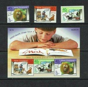 New Zealand: 1999, Children's Health, Books, set + Miniature sheet, MLH