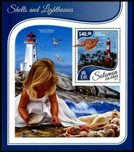HERRICKSTAMP NEW ISSUES SOLOMON ISLANDS Sc.# 2414 Shells and Lighthouses S/S