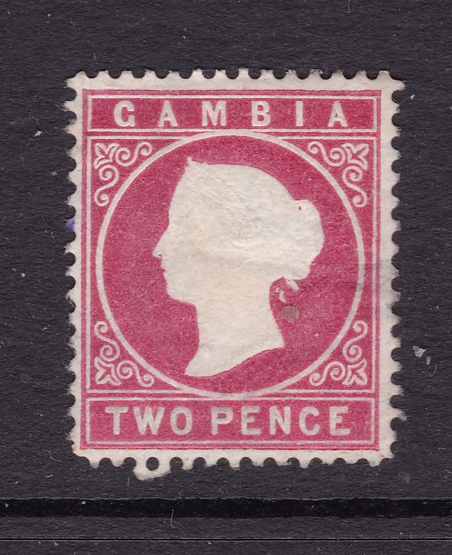 Gambia a MH 2d QV embossed head