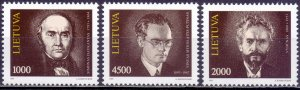 Lithuania. 1993. 523-25. Historian, writer, philosopher. MNH.