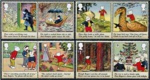 HERRICKSTAMP NEW ISSUES GREAT BRITAIN Rupert Bear Setenant Pairs