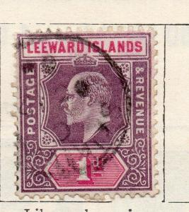 Leeward Islands 1902-03 Early Issue Fine Used 1d. 123604