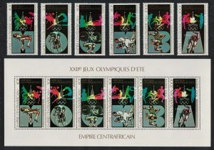 Central African Empire Moscow Olympics Pre-Olympic Year 6v+Sheetlet 1979 MNH