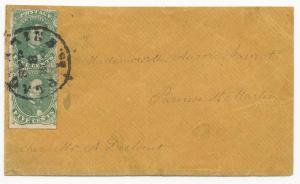 CSA Scott #1 Cover Paquermine LA Sep 8 1861 Baton Rouge Ex-Bogg Ex-Skinner