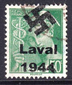 FRANCE 365 LAVAL OVERPRINT CDS VF/XF SOUND