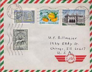 Algeria, Airmail, Food, Expositions