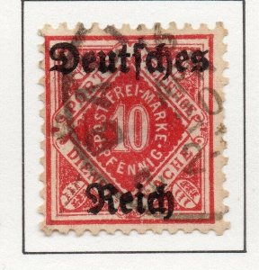 Germany 1920 Early Issue Fine Used 10pf. Optd NW-100742