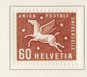 Switzerland Helvetia 1957 Early Issue Fine Mint Hinged 60c. NW-170862