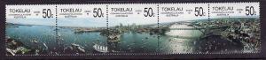 Tokelau-Sc#150-unused NH strip of 5-Australia Bicentennial S