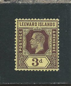 LEEWARD IS 1912-22 3d PURPLE/YELLOW WHITE BACK MM SG 51a CAT £95