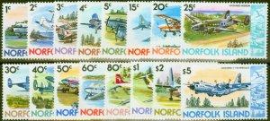Norfolk Island 1980 Airplanes set of 16 SG236-251 V.F MNH