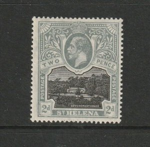 St Helena 1912/6 2d MM SG 75