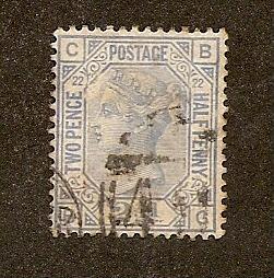 Great Britain Scott #82 plate 22 Used  Scott CV $37.50