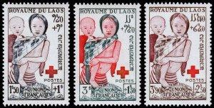Laos Scott B1-B3 (1953) Mint NH VF Complete Set C