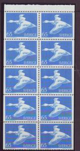 Sweden Sc762a 1971 65 ore Wild Goose stamp bklt pane NH