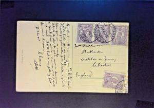 Romania 1923 Postcard to Great Britain - Z873