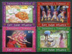 Trinidad & Tobago Cultures Stamps 2020 MNH East Indian Influence 175 Yrs 4v Set