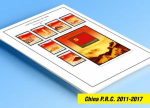 COLOR PRINTED CHINA P.R.C. 2011-2017 STAMP ALBUM  PAGES (98 illustrated pages)