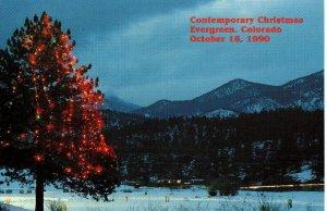 USPS CEREMONY PROGRAM 2515 Christmas Evergreen CO