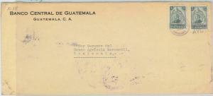 79010  - GUATEMALA - Postal HIistory -  OVERSIZED COVER with AMBULANT POSTMARK