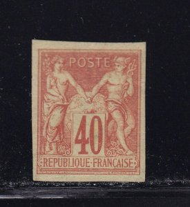French Colonies Scott # 26 VF OG mint hinged nice color scv $ 53  see pic !