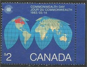 CANADA, 1983, used $2, Commonwealth Scott 977