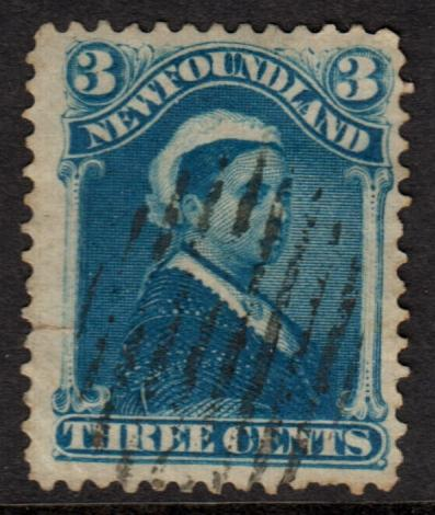 Newfoundland QV 1880 3c Bright Blue SG47a Used
