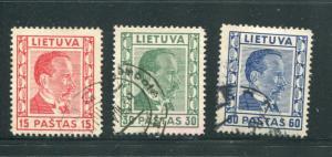 Lithuania #298-300 Used