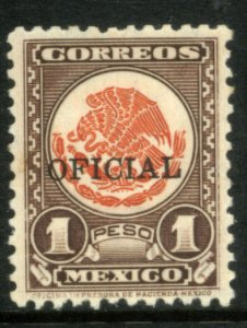 MEXICO O232, $1P OFFICIAL. Mint, never hinged. VF.