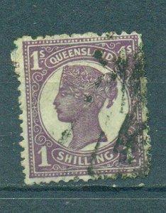 Queensland sc# 121 (3) used cat value $4.00