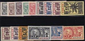 French Guinea 1906 SC 33-47 Mint Set
