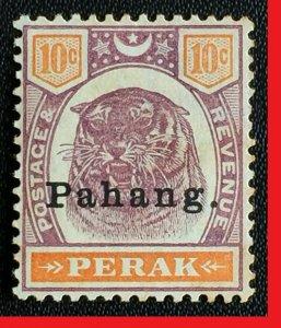 MALAYA 1898 Pahang opt Perak 10c MH SG#19 M2535