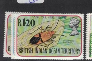 British Indian Ocean Territory Insects SC 87-9 MNH (6dpo)