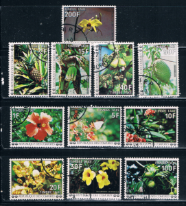 Comoro Islands J6-J17 Used Flowers (C0075)
