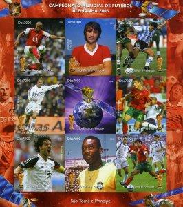 Sao Tome & Principe 2006 SPACE ESA SATELLITE Football Imperforated Mint (NH)