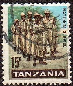Tanzania 7 - Used - 15c Army Squad (1965) (cv $0.60)