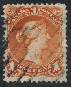CANADA 22 USED VF, 1c BROWN RED
