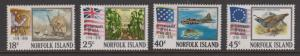 Norfolk Island 1976 American Bicentennial Set Sc#194-197 MLH
