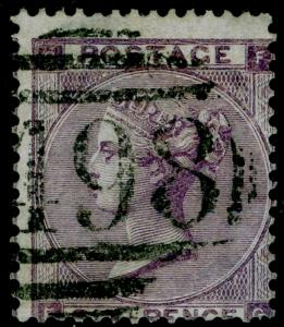 SG84, 6d lilac plate 3, USED. Cat £140.