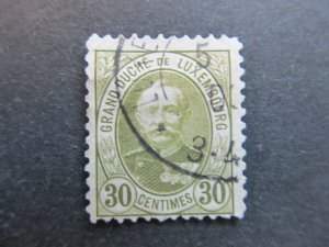 A4P26F23 Letzebuerg Luxembourg 1891-93 30c used