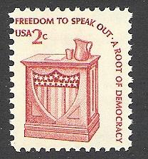 US Cat # 1582, Speaker's Stand, MNH*-