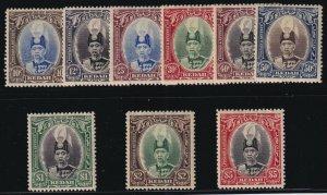 Malaya (Kedah) Sc #46-54 (1937) Sultan Halim Shah Set Mint VF H