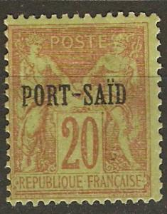 France Off Egypt Pt Said 8 Mi 8 MH Fine 1899 SCV $17.00