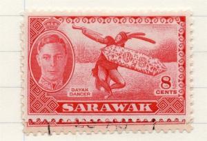 Sarawak 1950 GVI Early Issue Fine Mint Hinged 8c. 198019
