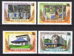 St. Vincent MNH 882-5 Flour Milling SCV 3.00