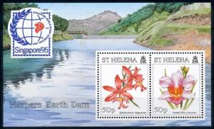 [67050] St. Helena 1995 Flora Flowers Blumen Orchids Souvenir Sheet MNH