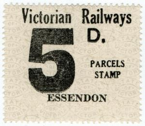 (I.B) Australia - Victoria Railways : Parcel Stamp 5d (Essendon)