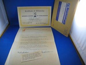 LITTLETON CERTIFICATE OF FELLOWSHIP  1955