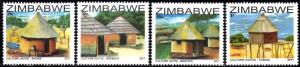 Zimbabwe - 2011 Culture Huts Set MNH**